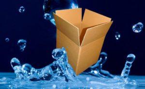 el volumen de una caja de cartón