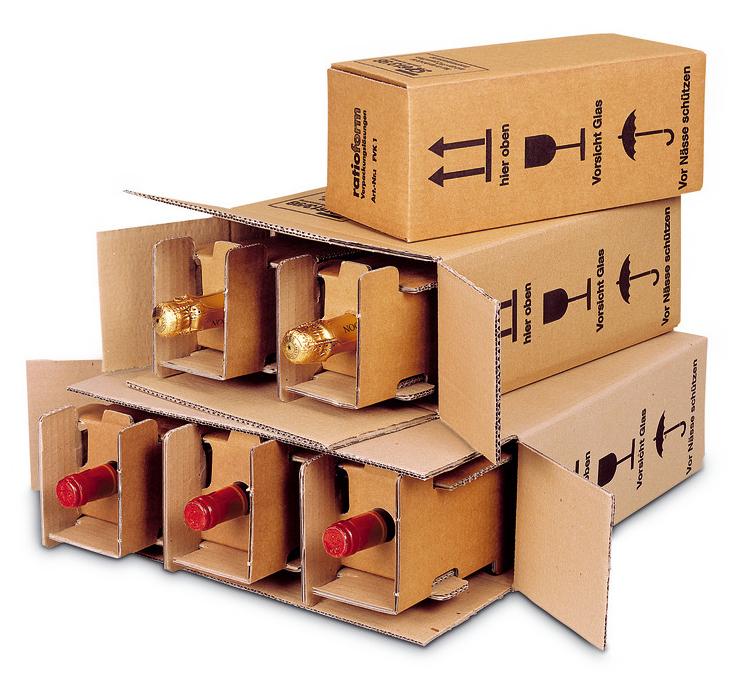 Caja para enviar botellas