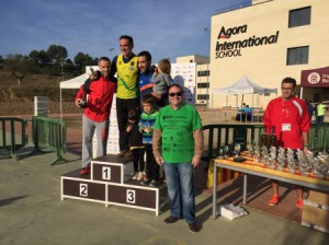 VIII Cross Comarcal Agora International School Barcelona podium masculino