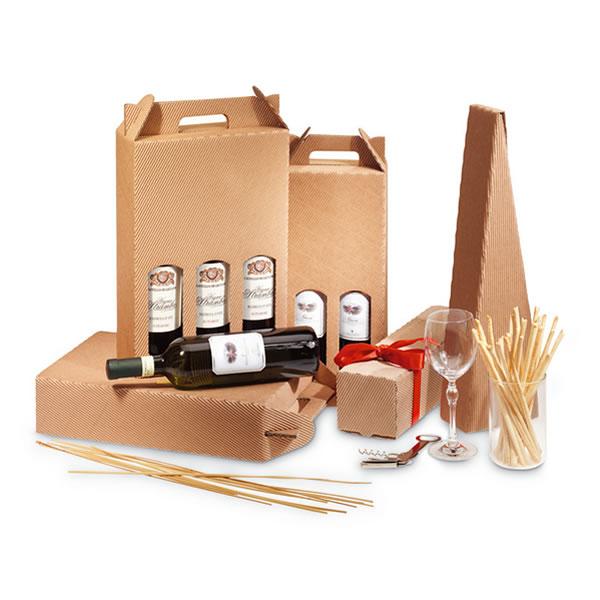Cajas de cartón para regalar vino por Navidad