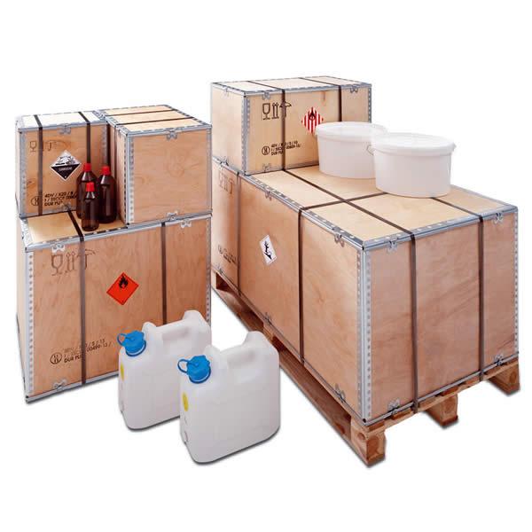•Cajas para mercancías peligrosas