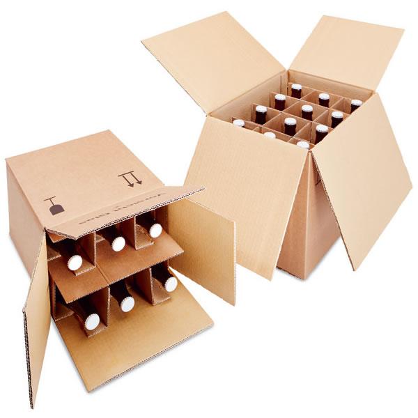 Enviar en cajas de cartón para botellas de forma segura y rápida
