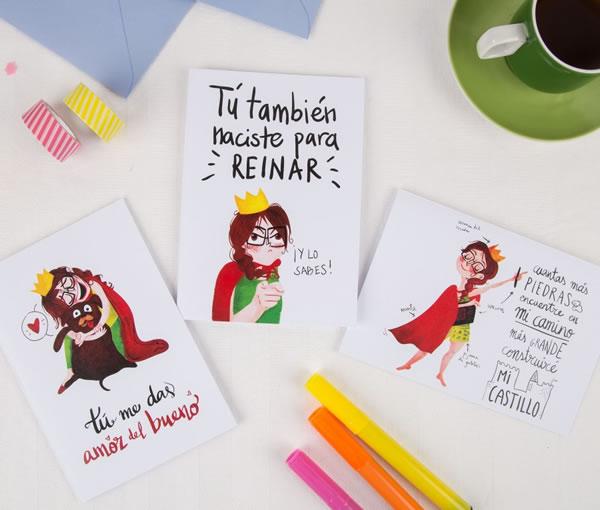 Las tarjetas de felicitación en sobres