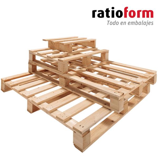 Palets de madera reutilizados