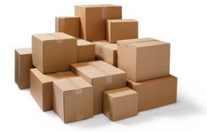 Una gran variedad de caja de carton